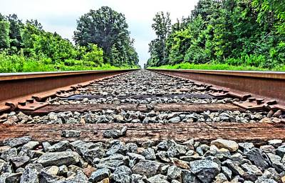 The Great Escape Photograph - Summer Railroad Tracks by Dan Sproul