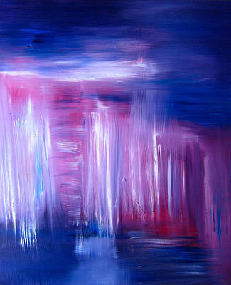 Painting - Summer Rain Abstract by Kathryn Barry