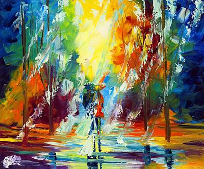 Thunder Painting - Summer Rain by Ash Hussein