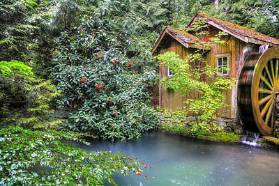Summer Rain At The Watermill Art Print by Eti Reid