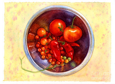 Pepper Painting - Summer Reds by Isabella Kung