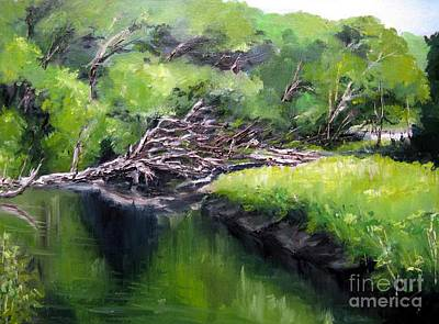 Painting - Summer Reflection by Ronald Tseng