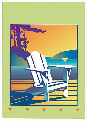 On Deck Digital Art - Summer Relax by David Chestnutt