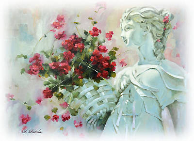 Garden Statuary Painting - Summer Reverie by Dianne Patula