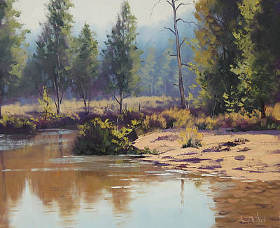 Impressionism Royalty-Free and Rights-Managed Images - Summer River  by Graham Gercken