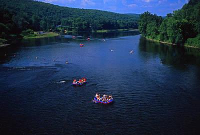 Upper Delaware River Photograph - Summer River Tubing Delaware River Pa  by Blair Seitz