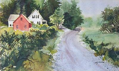 Art Print featuring the painting Summer Road by Joy Nichols