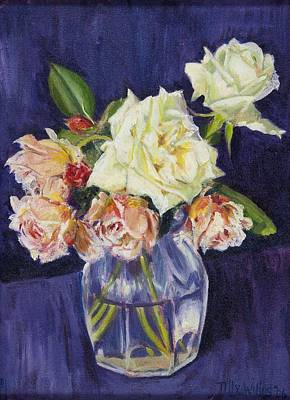 Summer Roses Art Print by Tilly Willis
