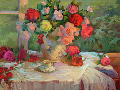 Summer Roses Original by Diane McClary