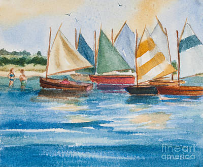 Cape Cod Painting - Summer Sail by Michelle Wiarda