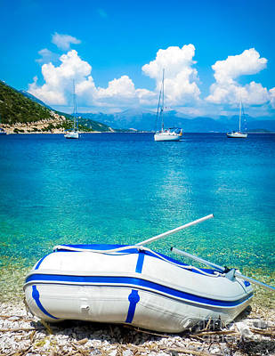 Summer Sailing In The Med Art Print