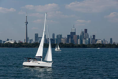 Photograph - Summer Sailing Postcard From Toronto by Georgia Mizuleva