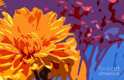 Digitally Manipulated Mixed Media - Summer Scene by Liesl Marelli