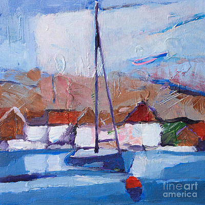 Abstractions Painting - Summer Seascape by Lutz Baar