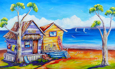 Painting - Summer Shacks by Deb Broughton