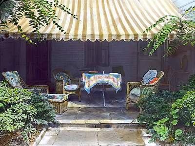 Table Photograph - Summer Shade 2 by Terry Reynoldson