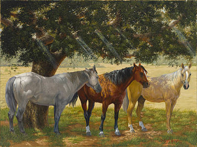 Painting - Summer Shade by Howard DUBOIS