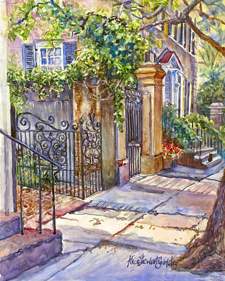 Charleston Painting - Summer Shadows by Alice Grimsley