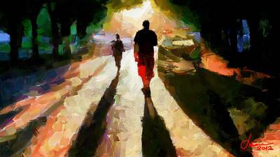 Summer Shadows Tnm Art Print by Vincent DiNovici