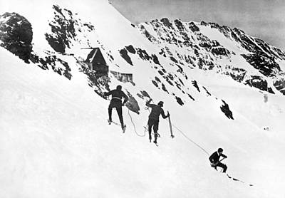 Summer Ski Race In Switzerland Print by Underwood Archives