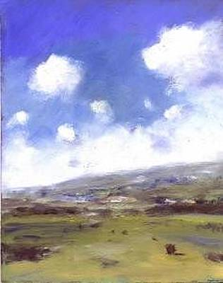 Painting - Summer Sky Over Brading Down by Alan Daysh
