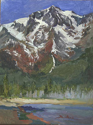 Betty Billups Painting - Summer Snows Mount Tallac Lake Tahoe Ca by Betty Jean Billups