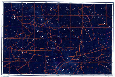 Summer Solstice Constellations Art Print by Collection Abecasis