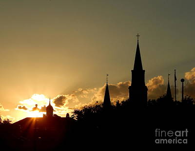 Photograph - Summer Solstice Of Historic Faith At The Saint Louis Cathedral And Calbildo by Michael Hoard