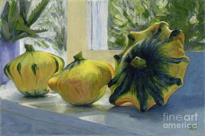 Painting - Summer Squashes by Betsee  Talavera
