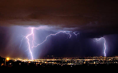 Photograph - Summer Storm- Albuquerque 2009 by John Dickinson