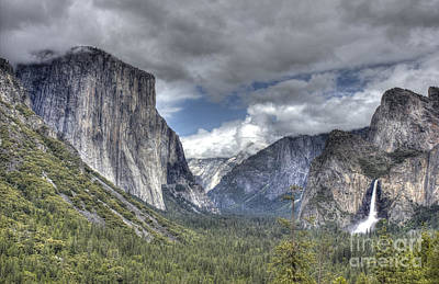 Art Print featuring the photograph Summer Storm At Yosemite by ELDavis Photography
