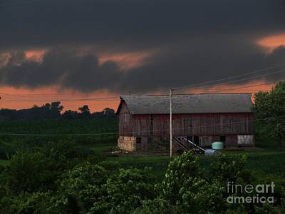 Summer Storm Brewing Art Print by Laurie Wilcox