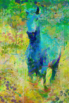 Horse Painting - Summer Storm by Greg Collins