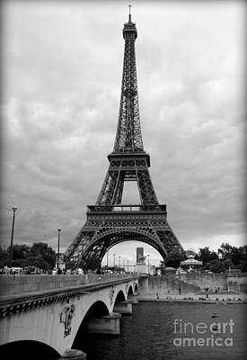 Summer Storm Over The Eiffel Tower Art Print