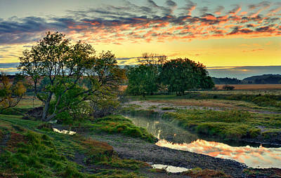 Photograph - Summer Stream Sunrise by Bruce Morrison