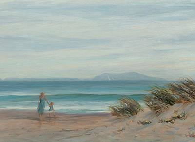 Summer Stroll Art Print by Tina Obrien
