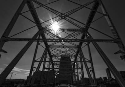 Nashville Skyline Photograph - Summer Sun On Shelby Street Bridge by Dan Sproul