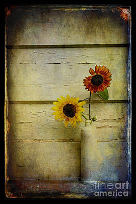 Summer Sunflowers Art Print by Sari Sauls