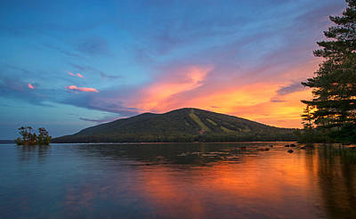 Maine Mountains Photograph - Summer Sunset At Shawnee Peak by Darylann Leonard Photography