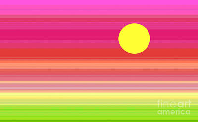 Digital Art - Summer Sunset by Kristi Kruse
