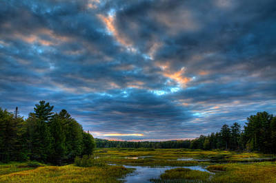 Mountains Photograph - Summer Sunset On The Moose River by David Patterson