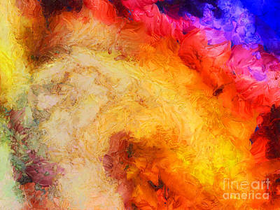Hot Mixed Media - Summer Swirl by Pixel Chimp