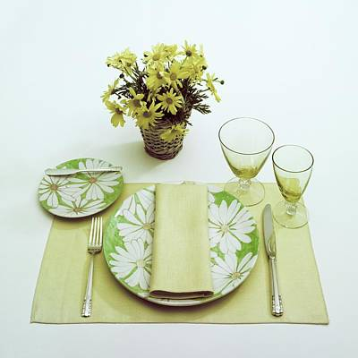 Bouquet Photograph - Summer Table Setting by Haanel Cassidy