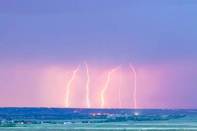 Summer Thunderstorm Lightning Strikes Print by James BO  Insogna