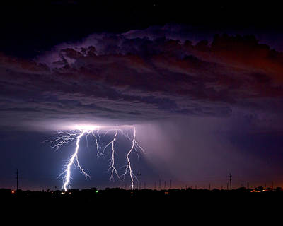 Telephone Poles Photograph - Summer Thunderstorm San Joaquin Valley Ca by Troy Montemayor