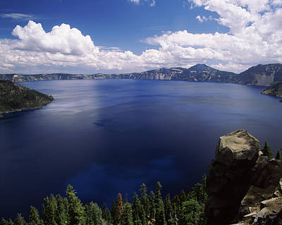Summer Thunderstorms Over Crater Lake Art Print by Panoramic Images