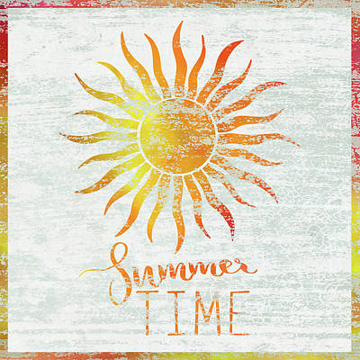 Sunshine Painting - Summer Time by Cora Niele
