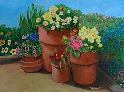 Terra Painting - Summer Time by Shylaja Nanjundiah