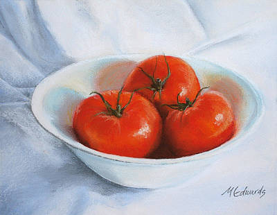 Pastel - Summer Tomatoes by Marna Edwards Flavell
