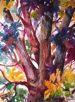 Wall Art - Painting - Summer Tree by Paula Marsh